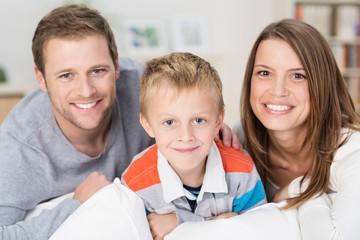 familienfoto zu hause