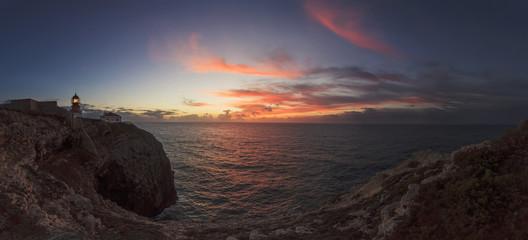 Portugal, Sagres, Ansicht der Leuchtturm von Kap St. Vincent
