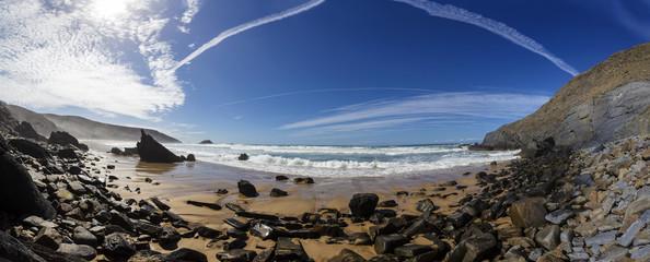 Portugal, Blick auf Strand Ponta Ruiva