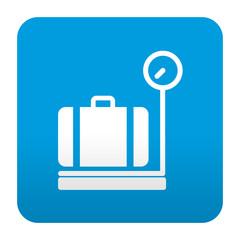 Etiqueta tipo app azul simbolo facturacion de equipaje