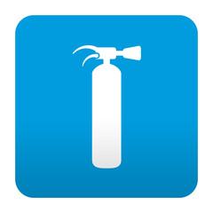 Etiqueta tipo app azul simbolo extintor