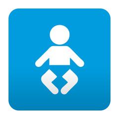 Etiqueta tipo app azul simbolo guarderia