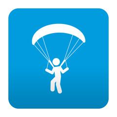 Etiqueta tipo app azul simbolo parapente