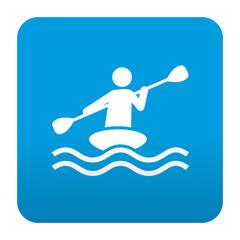 Etiqueta tipo app azul simbolo piragüismo