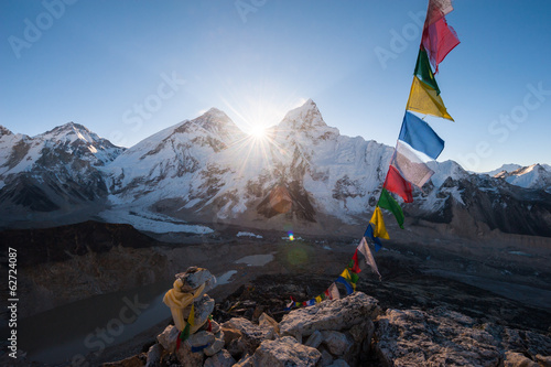 Fotobehang Nepal Mt.Everest at sunrise from Kala Patthar summit, Nepal
