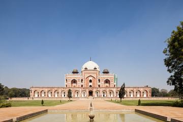 Indien, Delhi, Ansicht von Humayun-Mausoleum