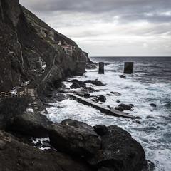 Spanien, La Gomera, Ansicht der Versandstation in der Nähe von Agulo