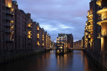 Deutschland, Hamburg, Blick auf Wasserburg