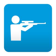 Etiqueta tipo app azul simbolo campo de tiro