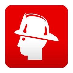 Etiqueta tipo app roja simbolo bombero