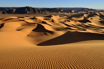 Algerien, Blick auf Dünen am Erg Mehejibad