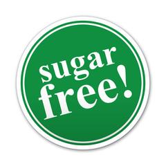 Pegatina redonda sugar free!