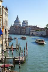 Italien, Venedig, Ansicht des Canal Grande in Santa Maria della Salute Kirche