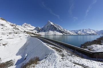 Österreich, Vorarlberg, Ansicht des Spullersee