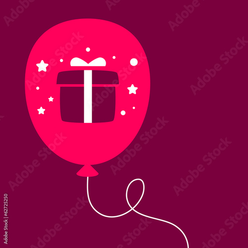 balloon with a gift box