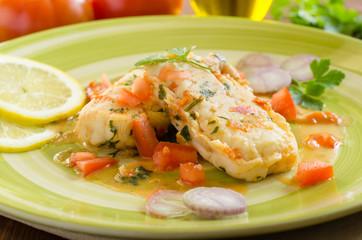 Filetti di merluzzo in salsa