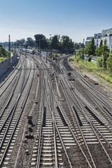 Deutschland, Ulm, Bahnschienen