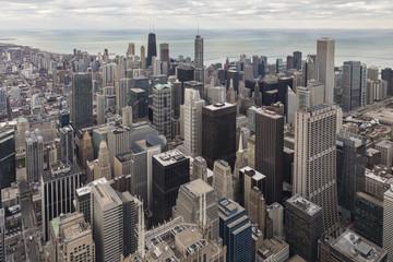 USA, Illinois, Chicago, Blick vom Willis Tower in Richtung Lake Michigan