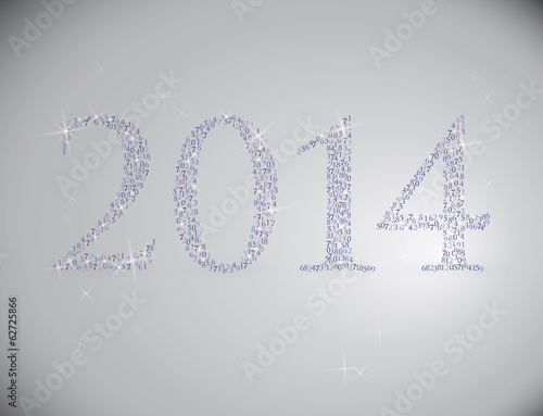 2014 / Happy new year card with numbers