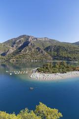 Türkei, Lykien, Strand und die Lagune von Ölüdeniz