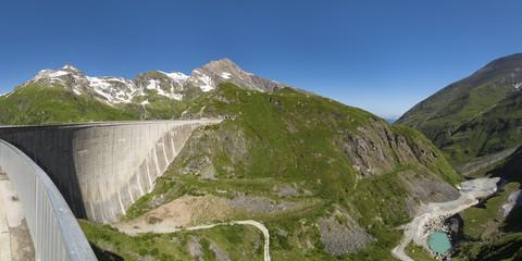 Österreich, Mooserboden mit Staumauer