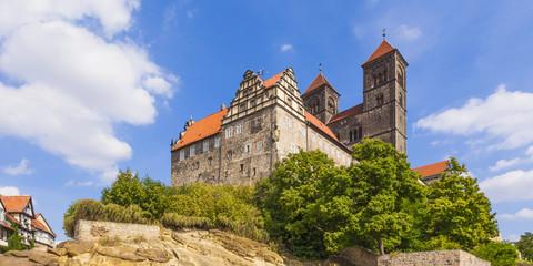 Deutschland, Sachsen -Anhalt, Quedlinburg, Burg und St. Servatius Kirche am Schlossberg