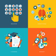 Flat design concept icons for online education
