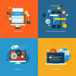 Set of flat design concept icons for web development