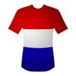 T-Shirt Niederlande in rot, weiß, blau