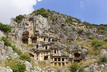 Türkei, Lykien, Lykischen Küste, Myra, lykischen Felsengräber