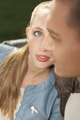 Porträt der jungen Paar