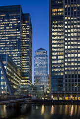 UK, London, Docklands, One Canada Square Building