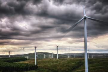 Großbritannien, Schottland, Ansicht der Windkraftanlage bei Dunbar