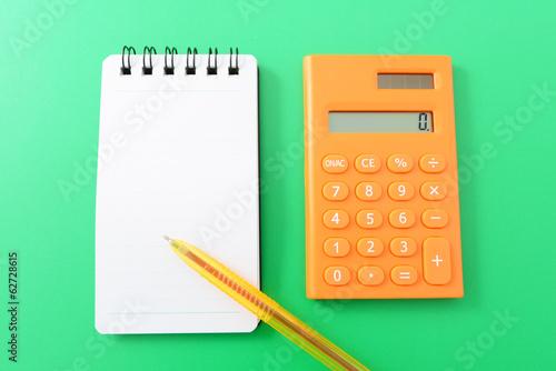計算機とメモ帳
