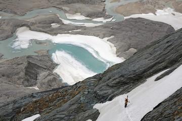 Österreich, Kärnten, Blick auf Pasterze Gletscher
