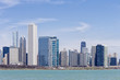 USA, Illinois, Chicago, Skyline mit Blick auf den Lake Michigan