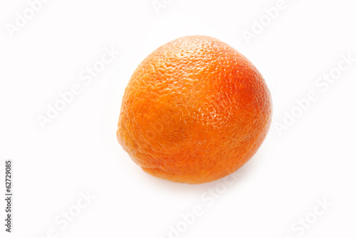 Whole Blood Orange Isolated on White