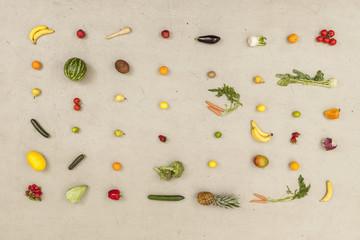 Vielfalt von Obst und Gemüse