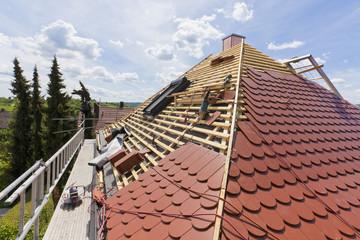 Deutschland, Stuttgart, Bau von Dach
