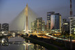 Brasilien, Sao Paulo, Stadtteil Morumbi, Hochhäuser, Finanzzentrum, Octavio Frias Brücke de Oliveira