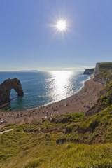 England, Blick auf Durdle Tür an Jurassic Coast