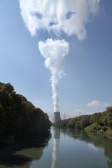 Deutschland, Bayern, Landshut, Ansicht von Kernkraftwerk