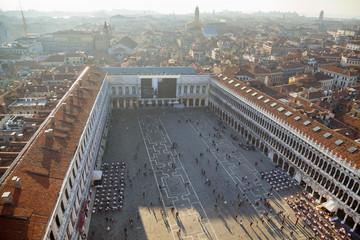 Italien, Venedig, Blick auf Markusplatz vom Turm Campanile