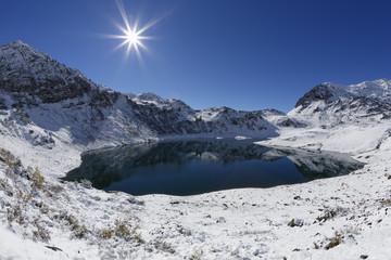 Österreich, Vorarlberg, Ansicht des Lechquellengebirge Berg