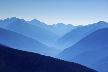 USA, Washington, Ansicht der Hurricane Ridge und Olympic National Park