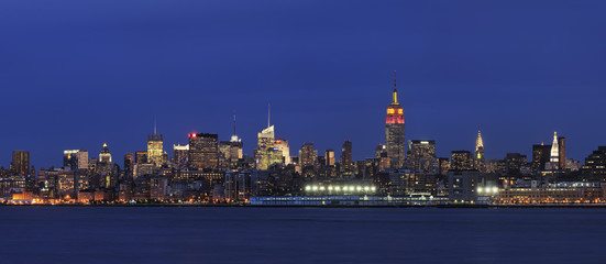 USA, New York City, Ansicht von Lower Manhattan mit Hudson River