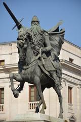 Primer Plano escultura de El Cid, Burgos, Camino de Santiago