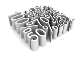 al percent discount sale price numbers cube shape
