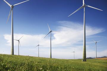 Deutschland, Windturbine auf Landschaft