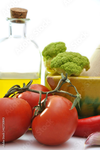 Olive oil with tomatoes,